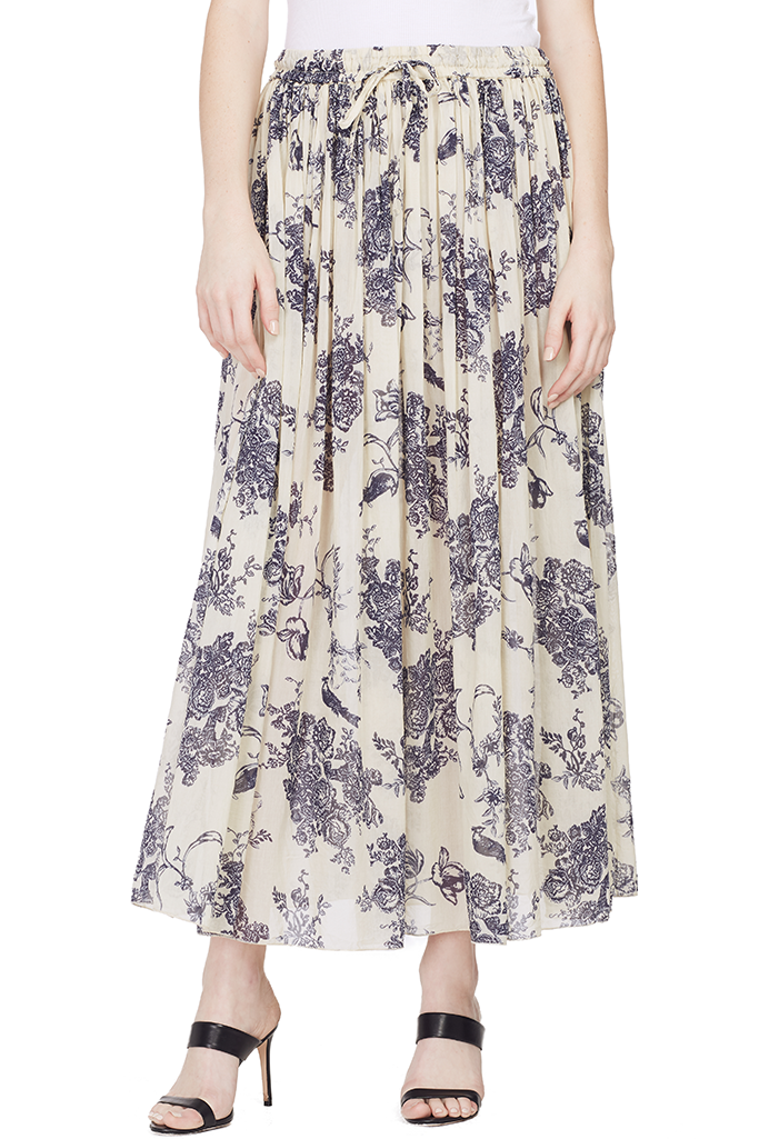 Liberty Print Long Voile Skirt