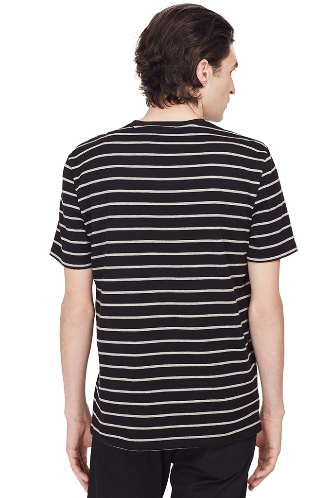 Heather Striped S/S Tee (Black)