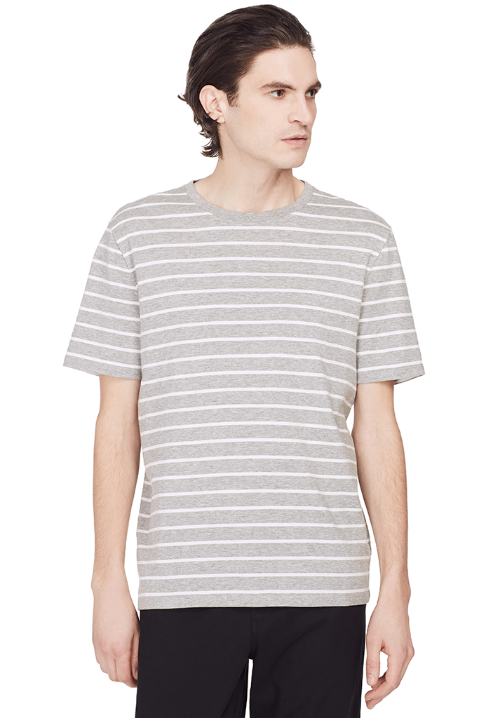 Heather Striped S/S (Grey)