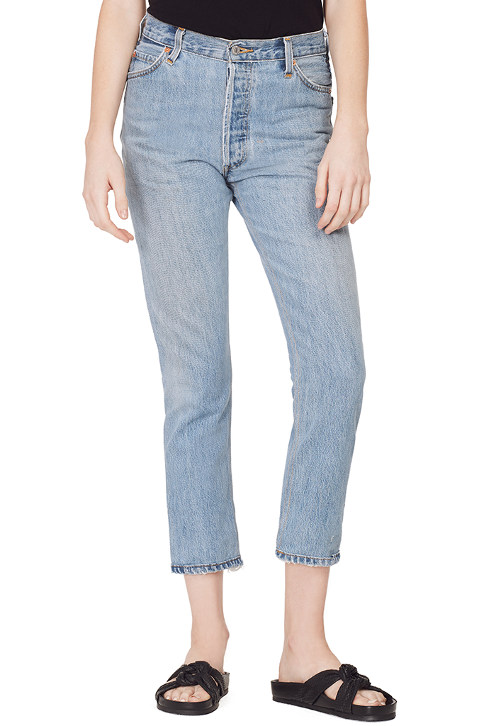 High Rise Ankle Crop (Indigo)