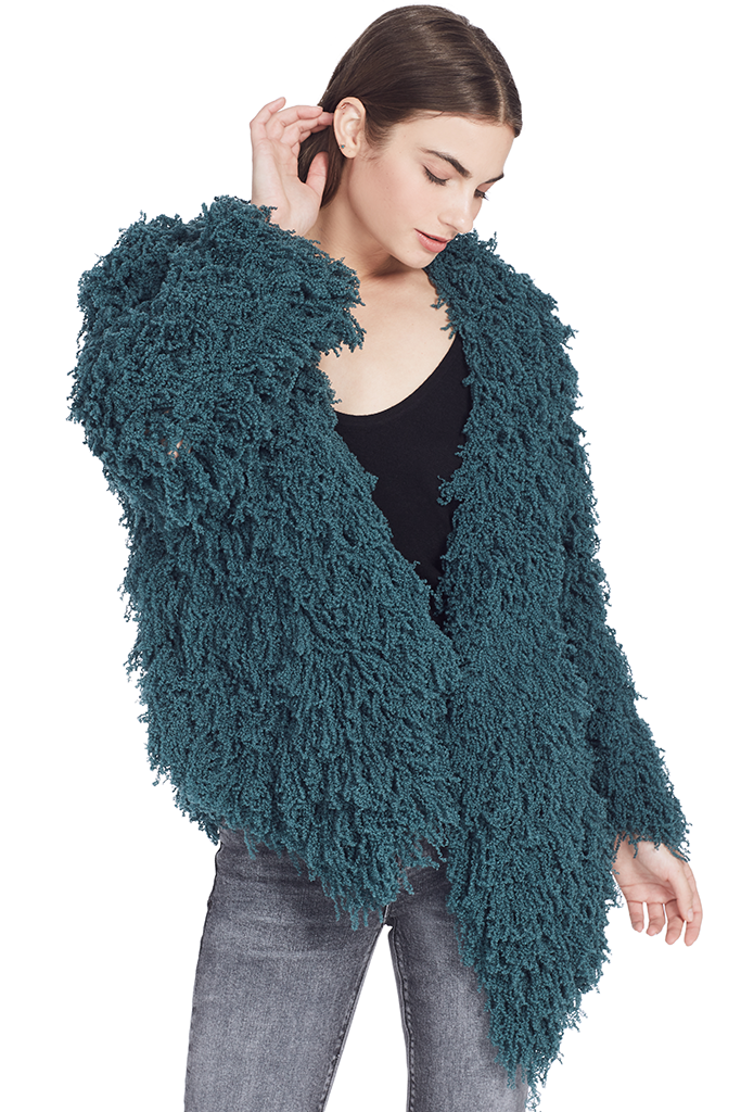 Furry Cardigan (Emerald)