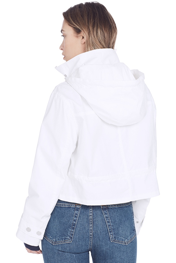 Cropped Hooded Parka