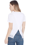 Asymmetrical Back Tee w Eyelet Embroidery