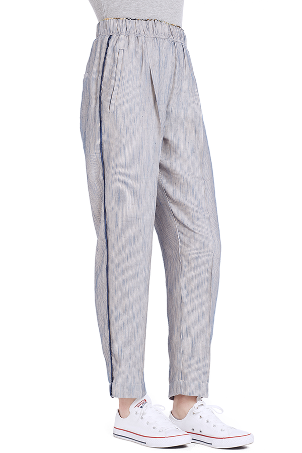 Viscose Linen Stripe Pants