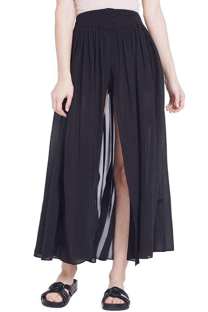 Georgette Silk Skirt with Coulottes