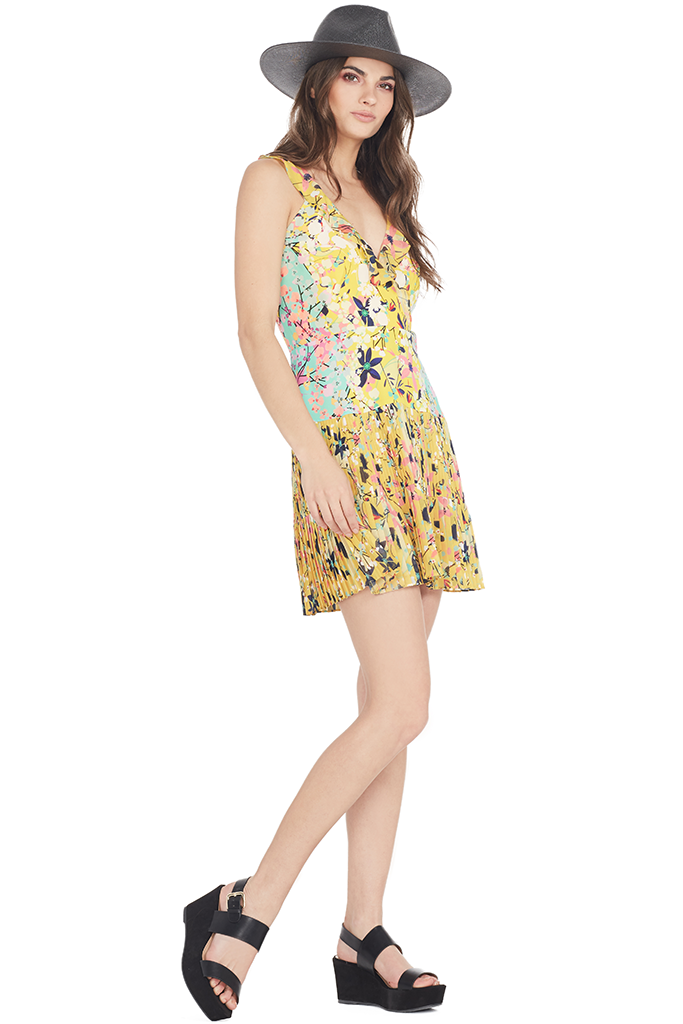 Amy Short Dress (Lemon)