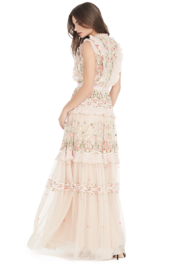 Lattice Rose Gown