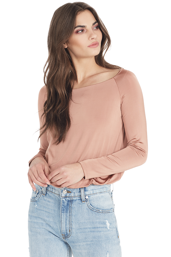 Boatneck Bodysuit (Desert Rose)