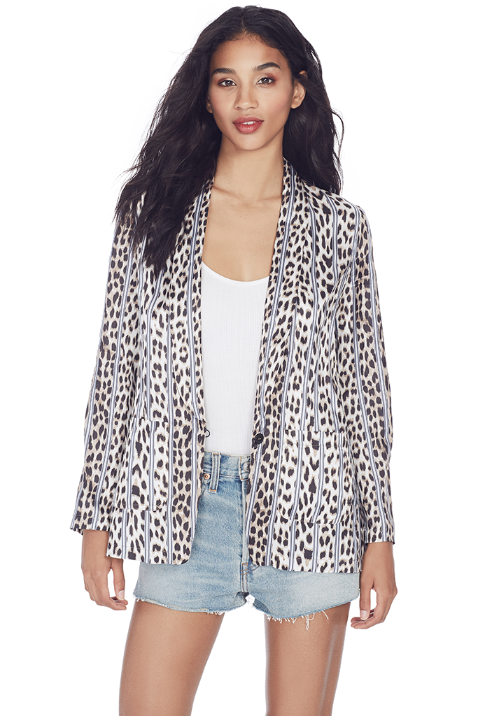 Satin Savage Vanity Print Jacket