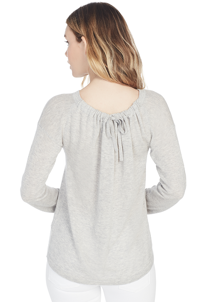 Cinched Back Pullover Sweater