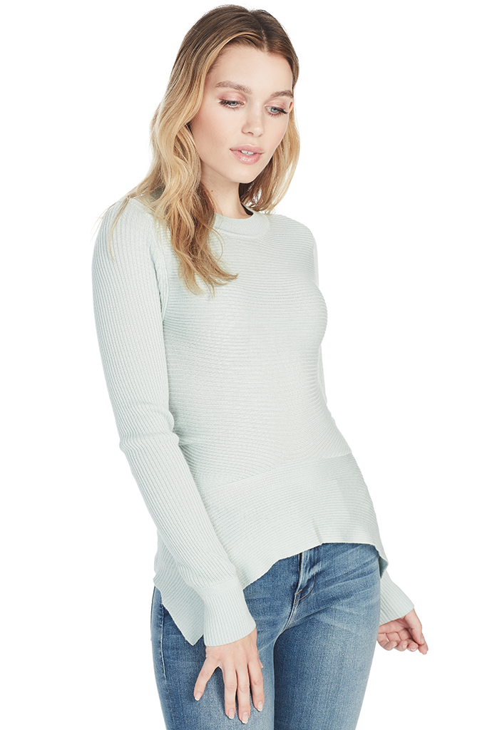 L/S Ribbed Knit Top