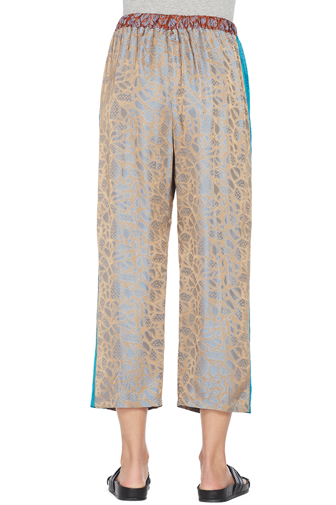 Autumn Leaf Viscose Jacquard Pants