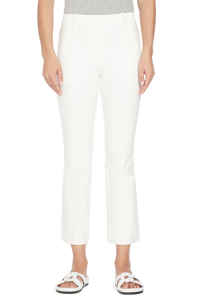Cropped Flare Trouser (White)