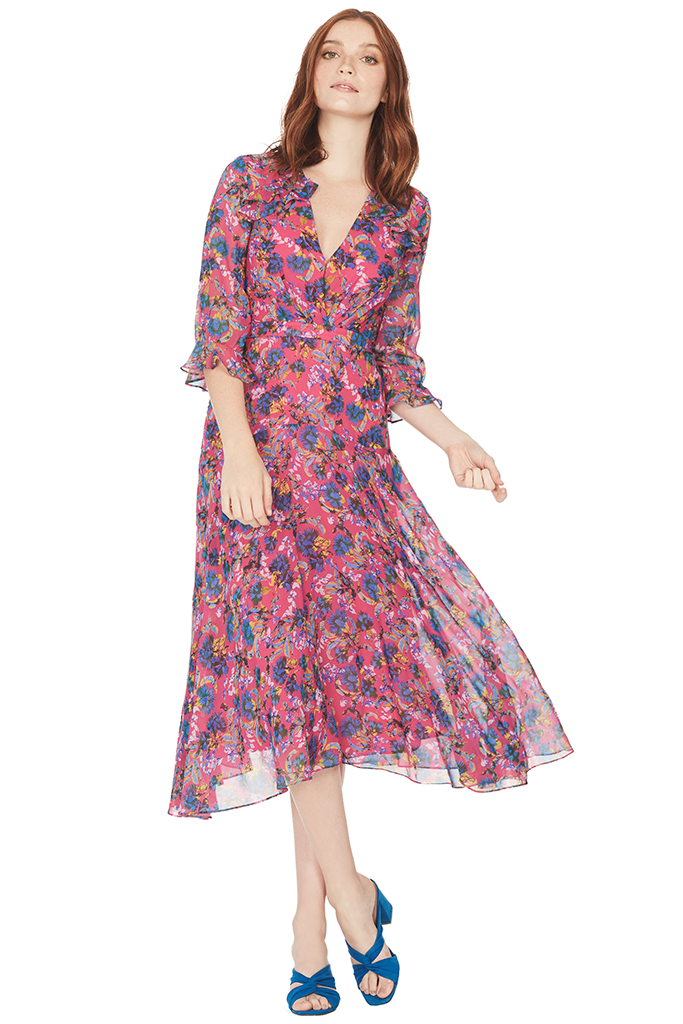 Edith Dress (Hot Pink Azalea)