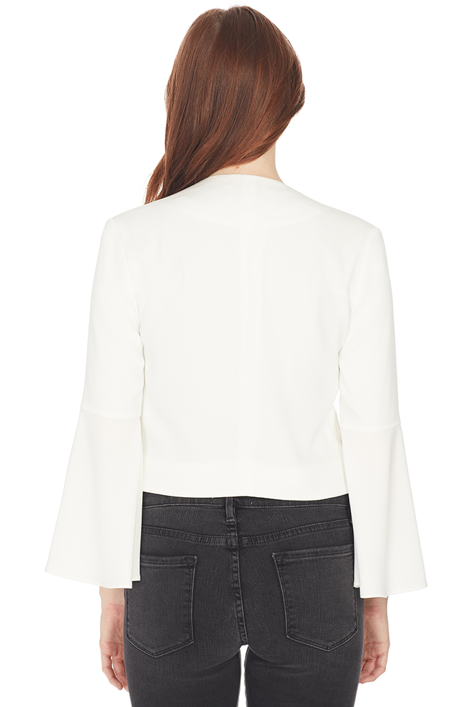 Cropped Bell Sleeve Jacket