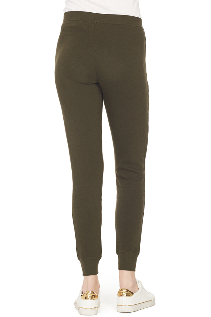 French Terry Slim Sweat Pant (Pine)