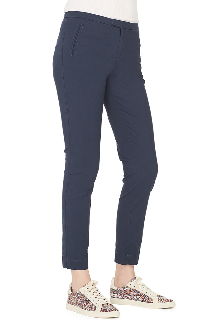 Enzyme Wash Slim Pant (Navy)