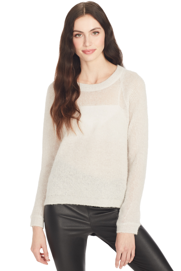 Sweater w/ Sheer Panel (Oyster)