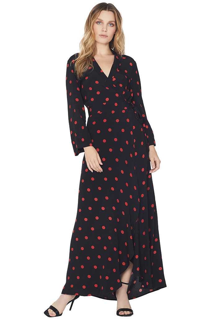 Barra Crepe Wrap Dress