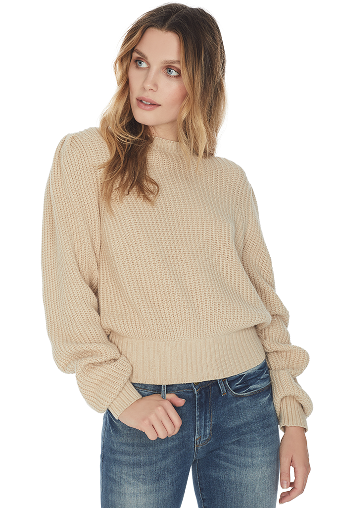 Cropped Crew Sweater