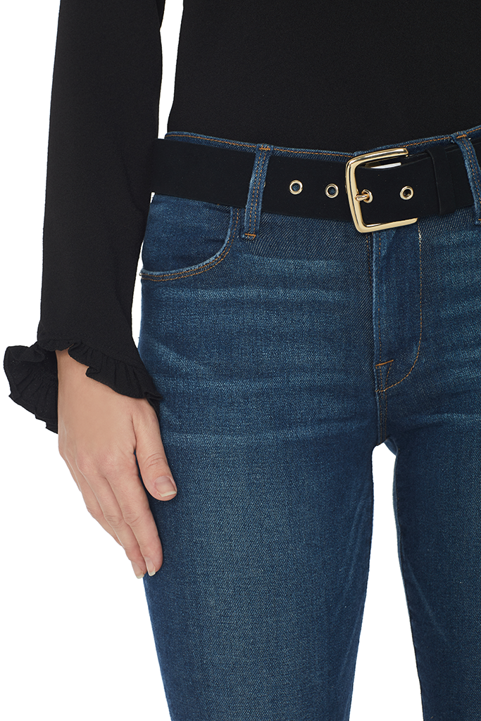Fine Grommet Belt (Black)