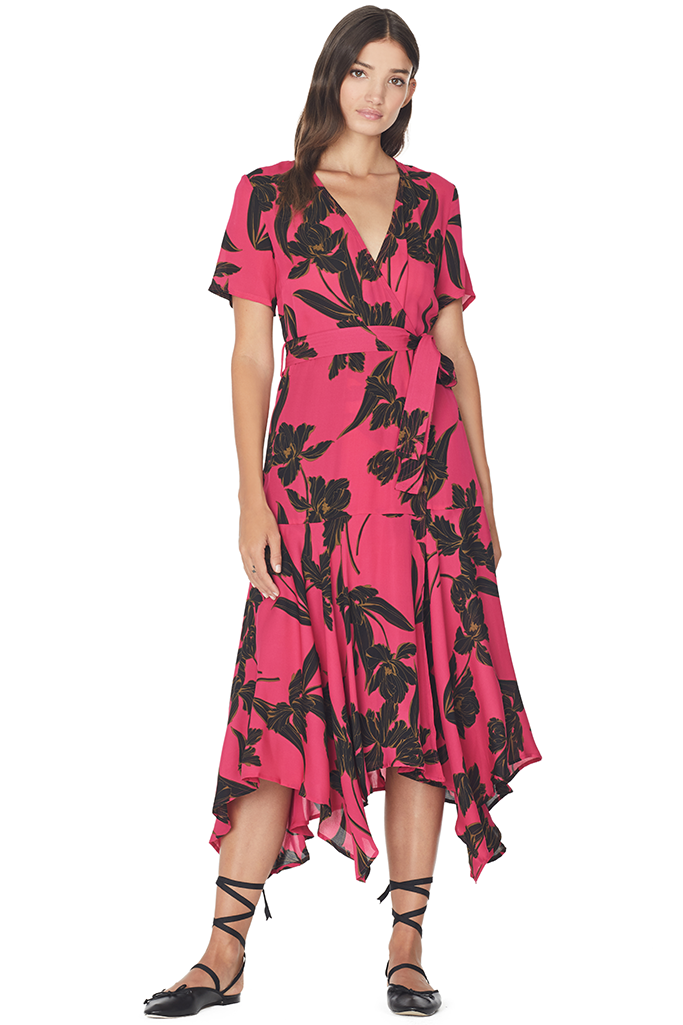 Cora Dress (Hot Pink/Black)