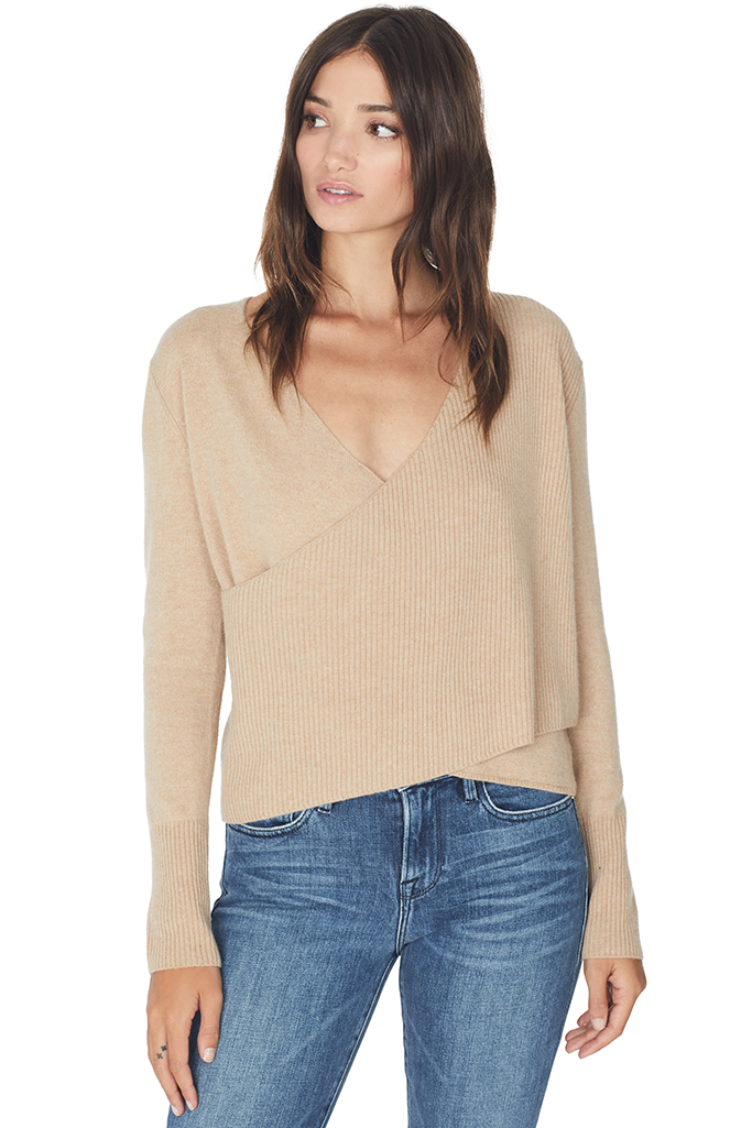 Cross Wrap Sweater (Champagne)