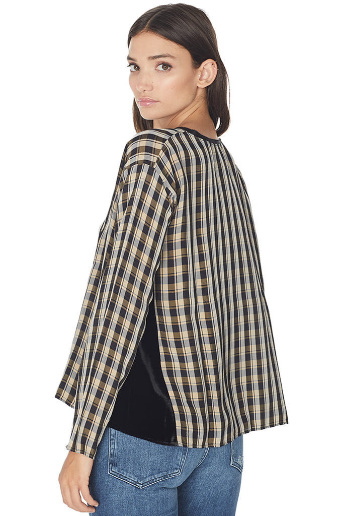 Viscose Tartan Roundneck Top