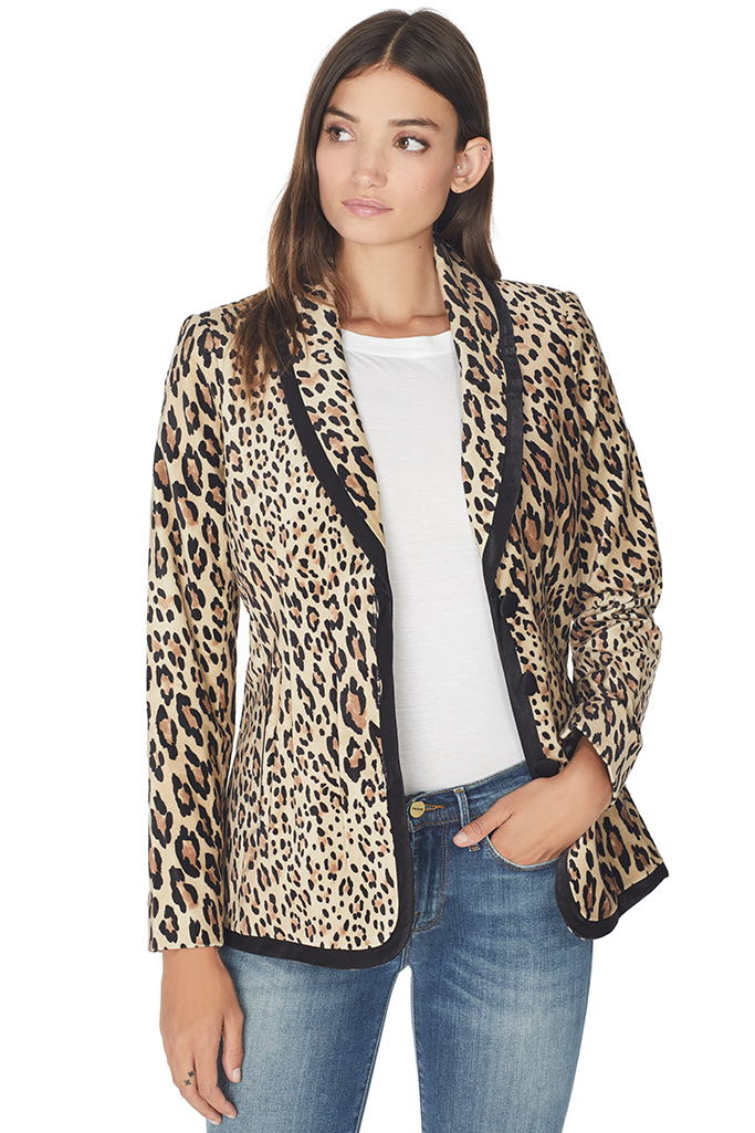 Cheetah Faux Fur Blazer