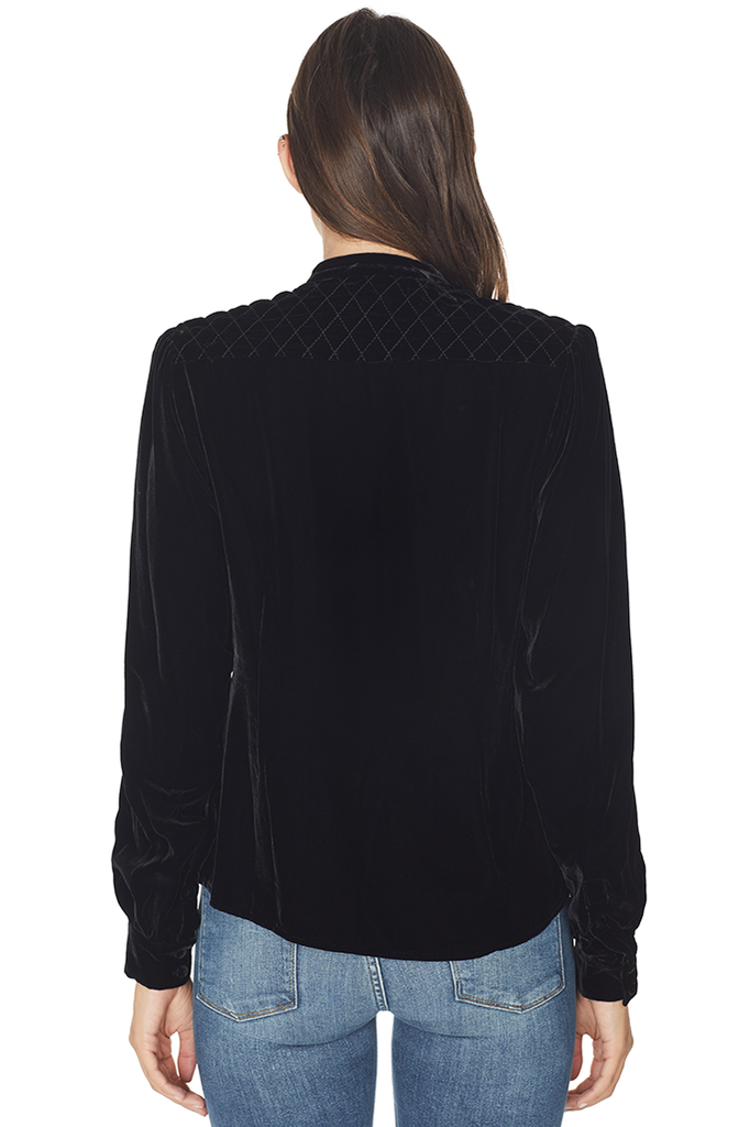 Velvet Quilted Blouse
