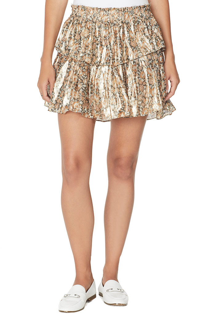 Ruffle Mini Skirt (Cinnamon)