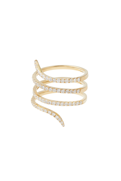 18K Yellow Gold Snake Ring