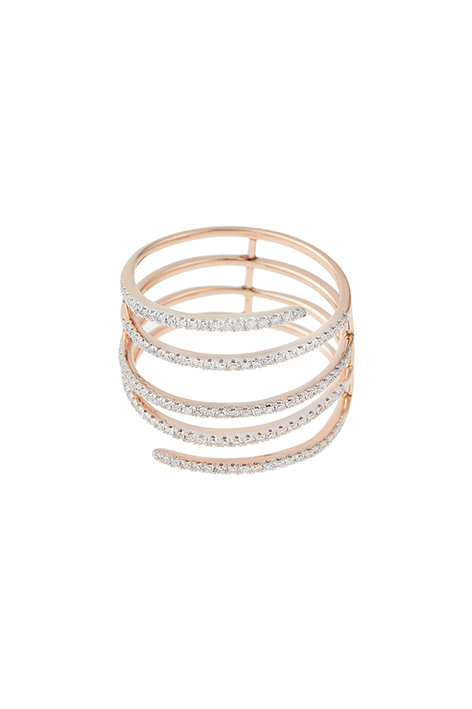 14K Rose Gold Coil Ring
