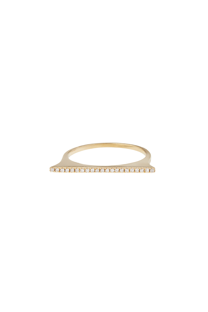 14K Yellow Gold Stackable Bar Ring