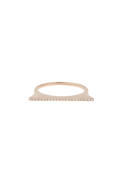 14K Rose Gold Stackable Bar Ring
