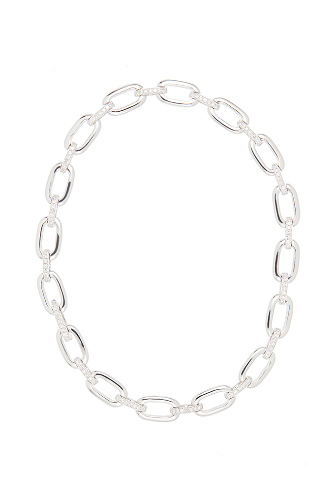 14K White Gold Chain Link Bracelet