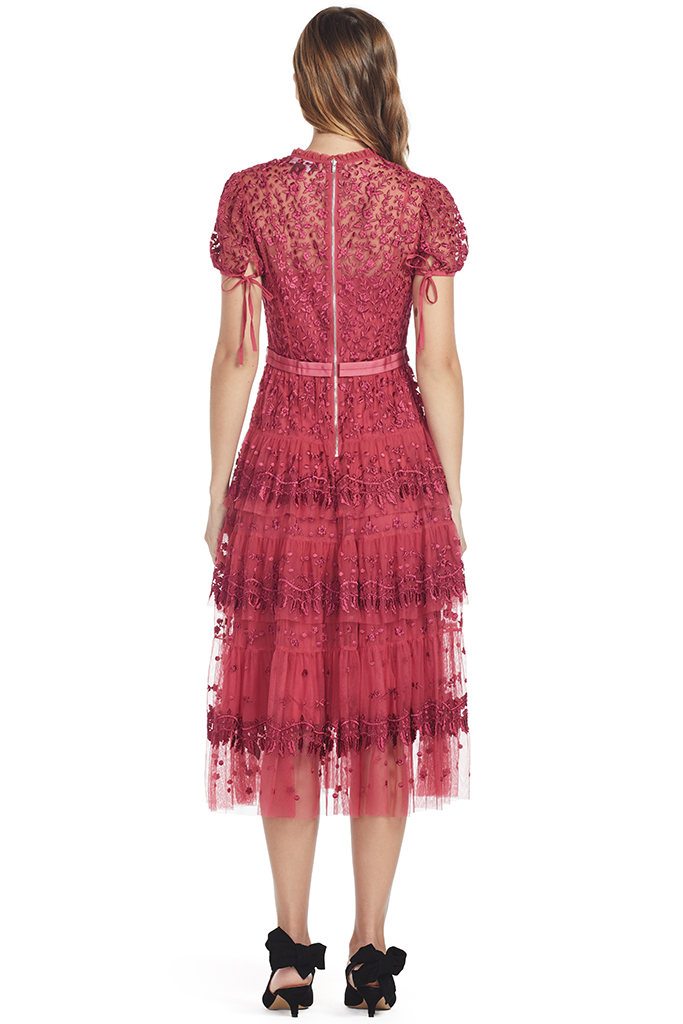 Layered Lace Dress (Red)