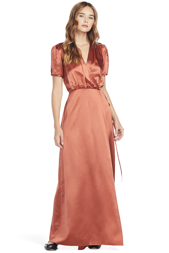 Lea Long Wrap Dress