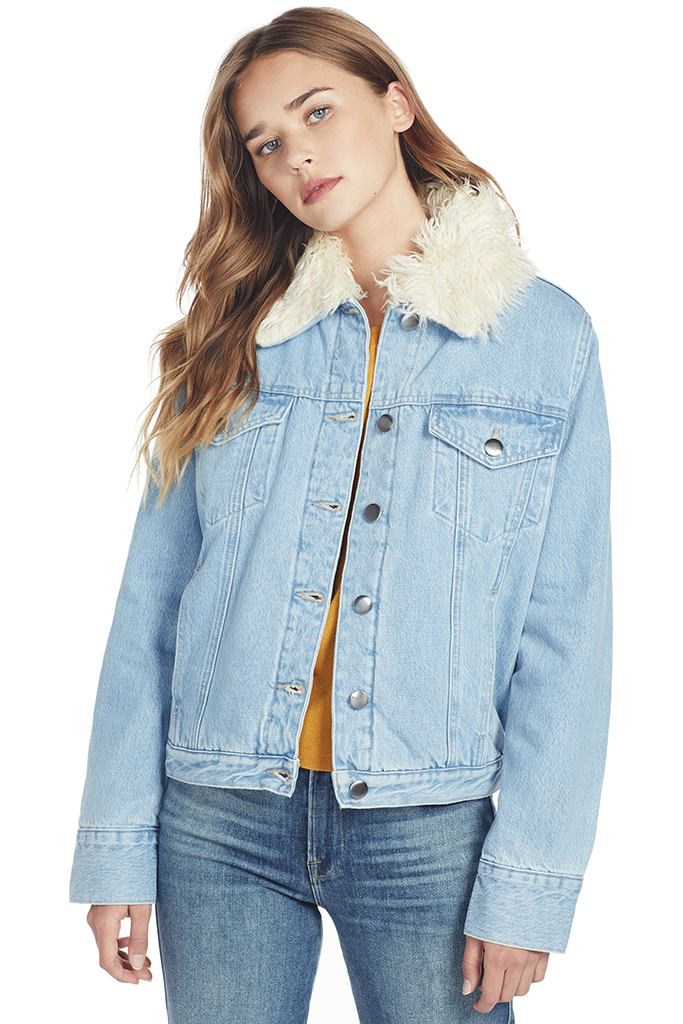 Le Curly Shearling Jacket