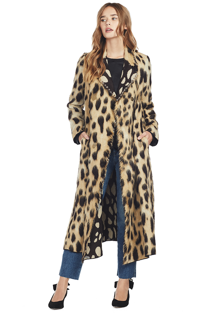 Savana Jacquard Fur Coat