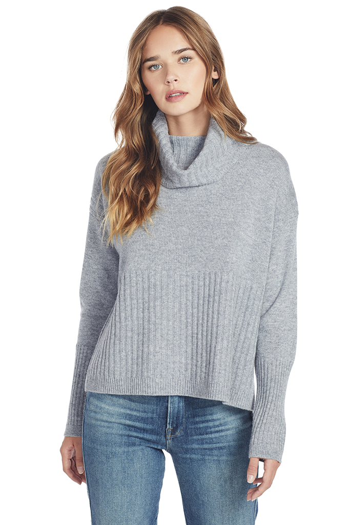 Turtleneck Sweater (Grey Melange)