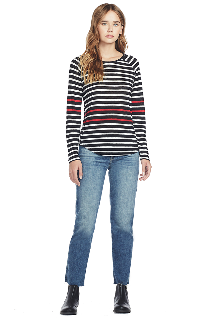 Raglan Mix Stripe L/S