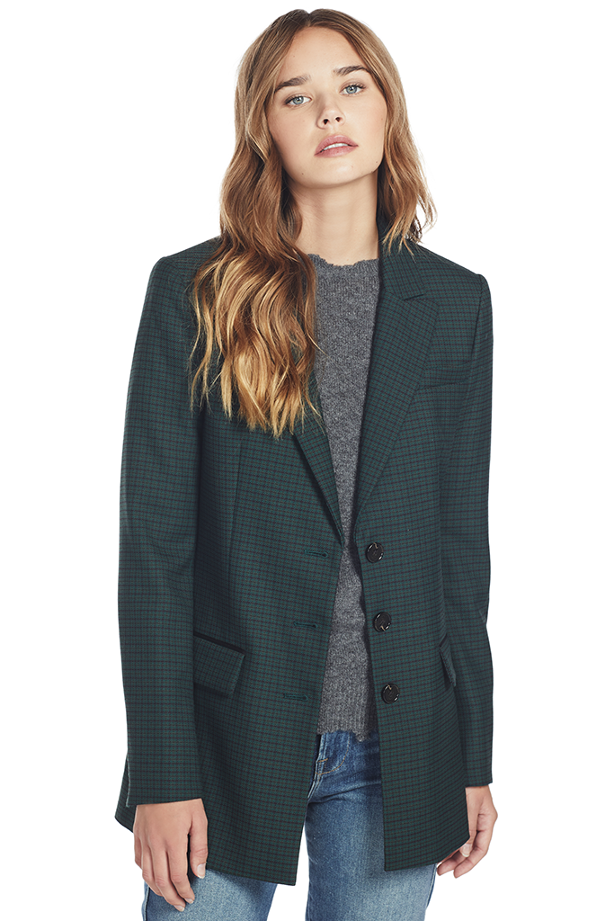 Milano Stretch Blazer Jacket (Dark Pine Multi)