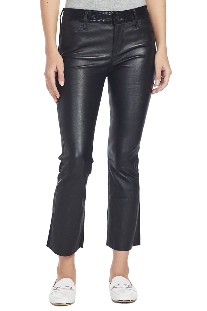Mimi Leather Pants (Night Blackness)