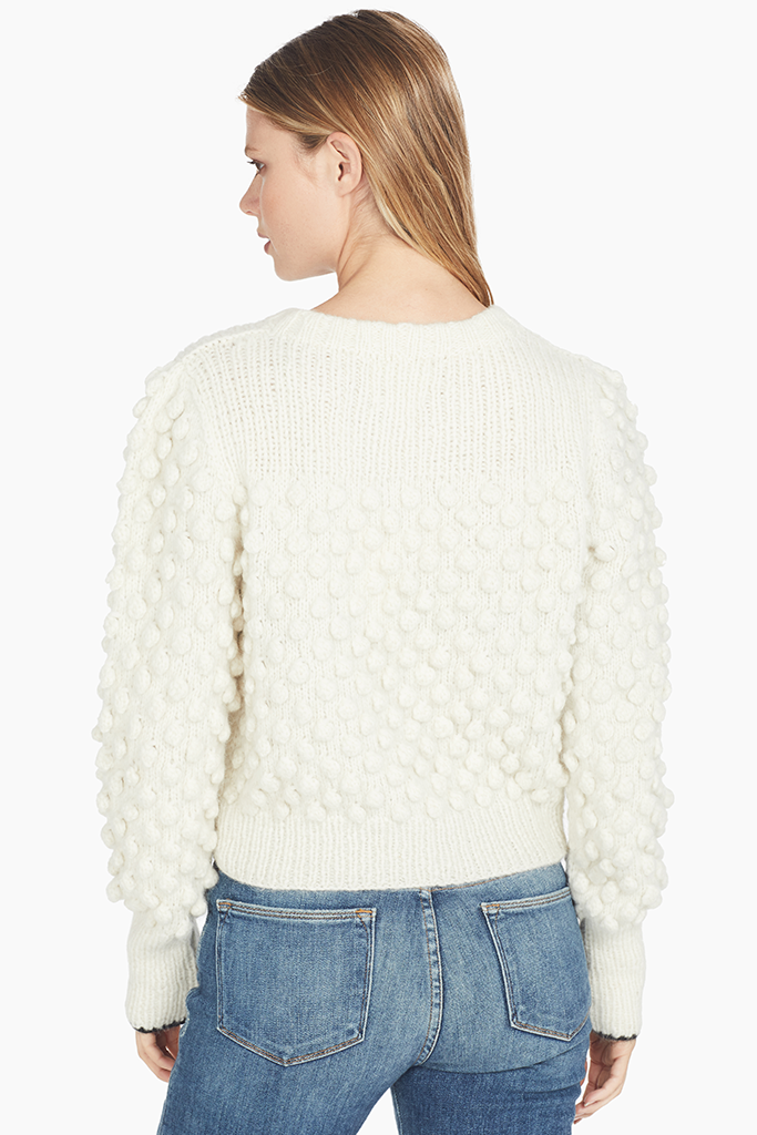 Eleven Six pom pom Sweater in Ivory