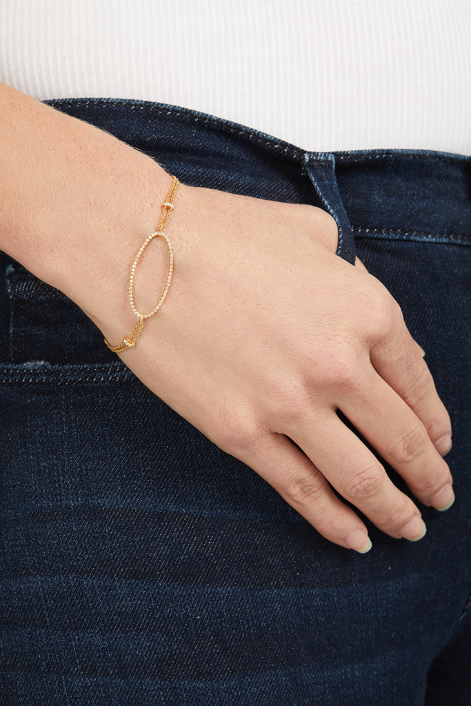 14K Yellow Gold Oval Chain Bracelet