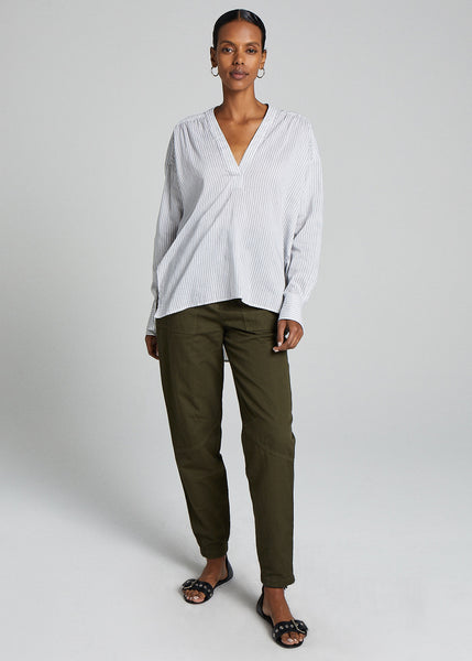 Laurie Top - White/Charcoal