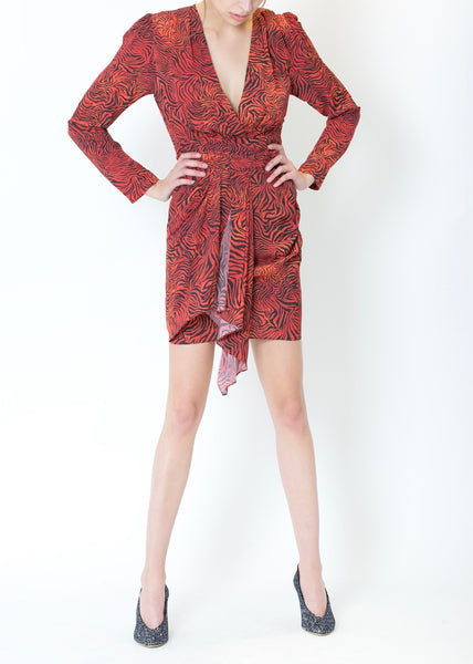 Maitri Dress - Red Zebra