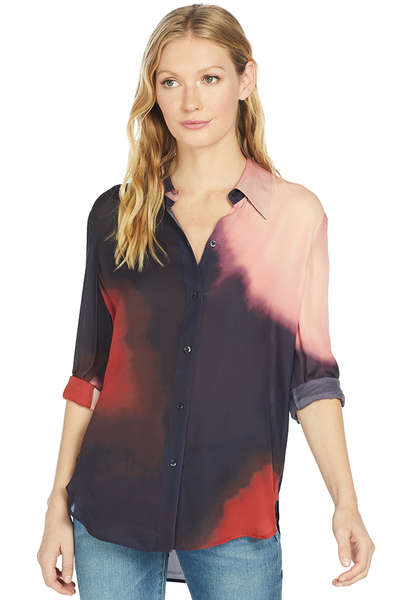 A.L.C. Beatrix Top (Midnight/Pink/Red)