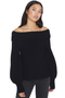 blouson sleeve cashmere sweater